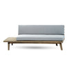 Emmory Indoor Minimalist Wood Left Sided Settee
