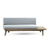 Emmory Indoor Minimalist Wood Right Sided Settee