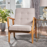 Gunther French-Style Contemporary Fabric Club Chair