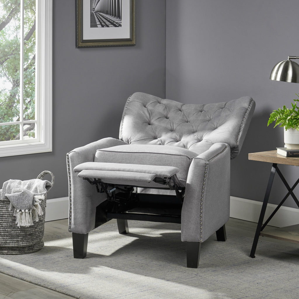 Ceres Tufted Back Fabric Recliner Armchair
