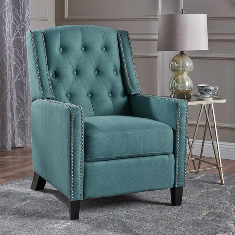 Izaak Tufted Back Fabric Recliner Chair