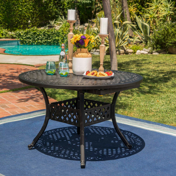 Stannis Outdoor Expandable Aluminum Dining Table Gdf Studio
