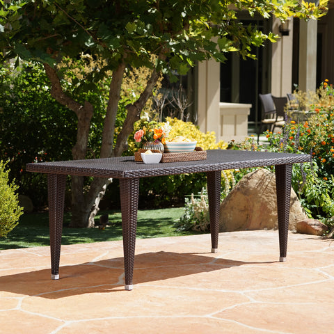 Durango Outdoor 75-inch Multibrown Wicker Rectangular Dining Table