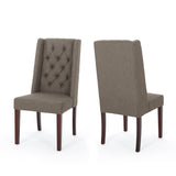 Billings Tufted Fabric High Back Dining Chairs (Set of 2)