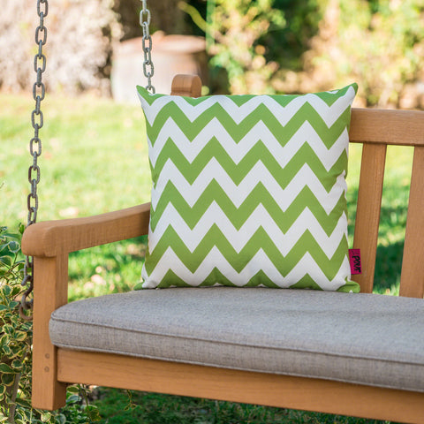 Embry Outdoor Chevron Design Water Resistant Square Throw Pillow