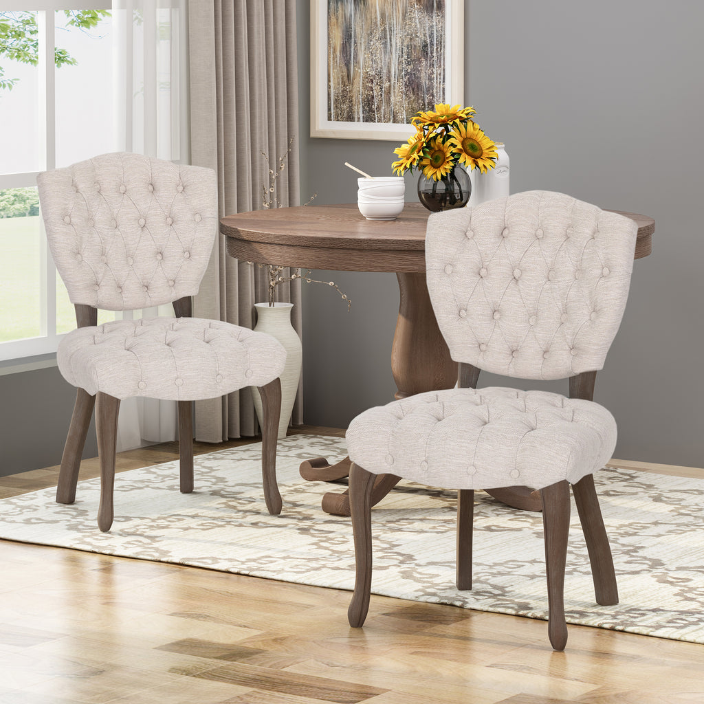 Cool Case Tufted Dining Chair With Cabriole Legs Set Of 2 Gamerscity Chair Design For Home Gamerscityorg
