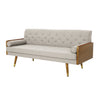 Aidan Mid Century Modern Tufted Fabric Sofa