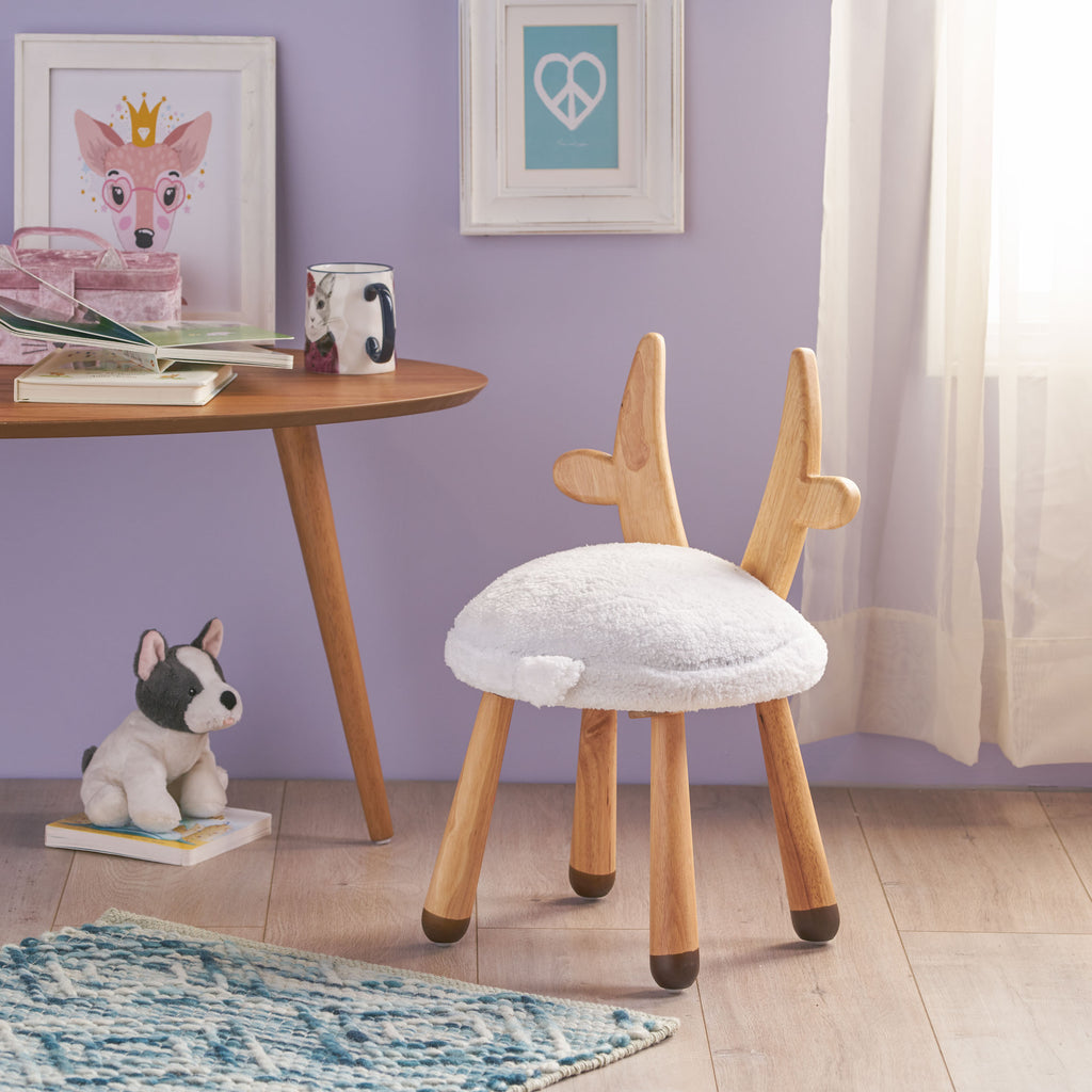 Tarren Stoolimals Collection Faux Fur Gazelle Stool