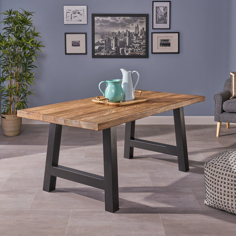 Edward Indoor Light Weight Concrete Dining Table