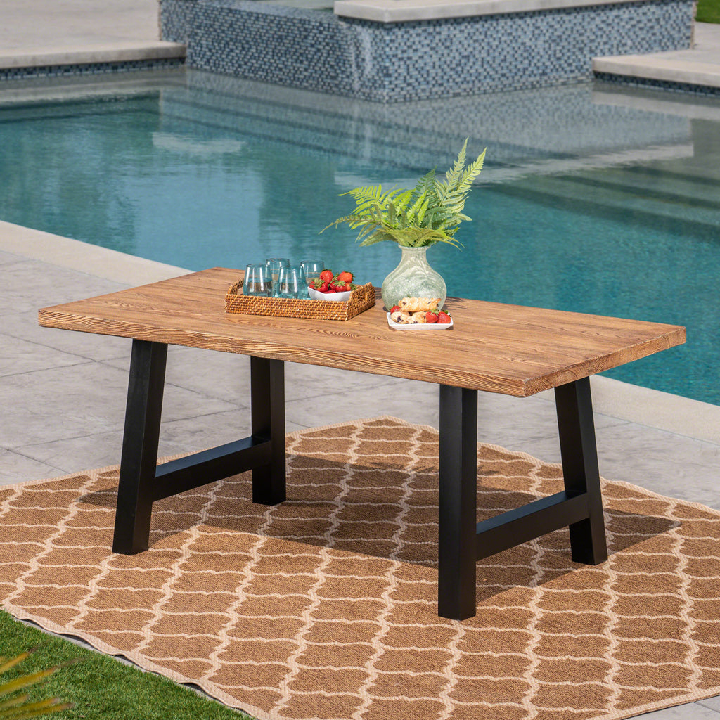 - Edward Outdoor Light Weight Concrete Dining Table – GDF Studio