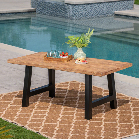Edward Outdoor Light Weight Concrete Dining Table