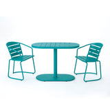 Santa Monica Outdoor Finished Iron Bistro Set