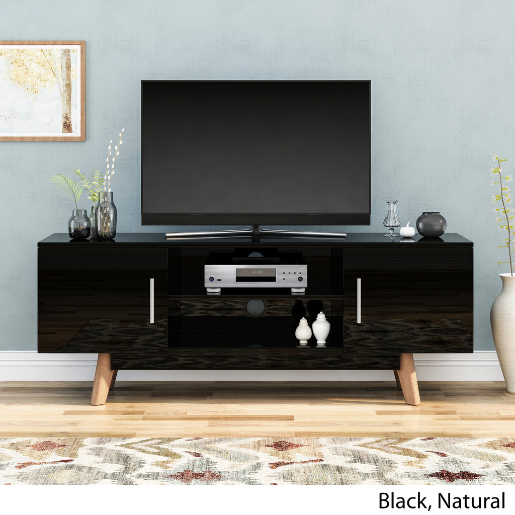 Abby Mid Century Faux Wood TV Stand for TVs up to 50""
