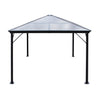Halley Outdoor 10 x 10 Foot Black Rust Proof Aluminum Framed Hardtop Gazebo (No Curtains)