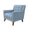 Anvith Mid Century Modern Fabric Arm Chair