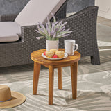 "Parker Outdoor 16"" Acacia Wood Side Table"