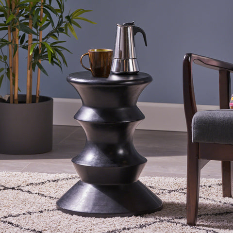 Alfreda Indoor 22-inch Light-Weight Concrete Side Table