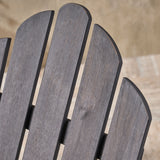 Cara Outdoor Foldable Acacia Wood Adirondack Chair