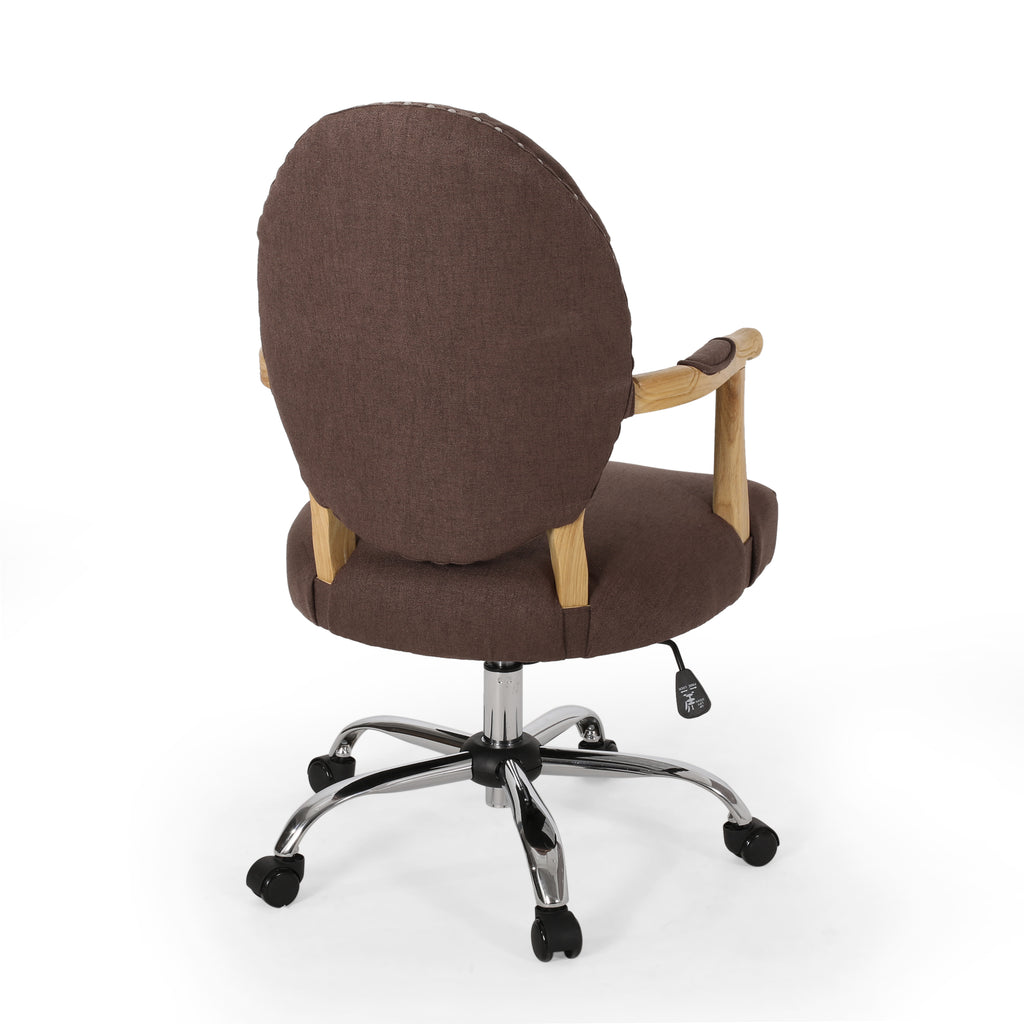 Maryclaire Contemporary Tufted Fabric Swivel Office Lift Chair