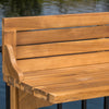 Pensacola Outdoor Acacia Wood Balcony Bar Table