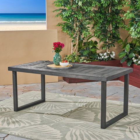 Ann Outdoor 69-inch Acacia Wood Dining Table