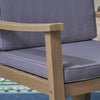 Aeney Outdoor Acacia Wood Rocking Chair