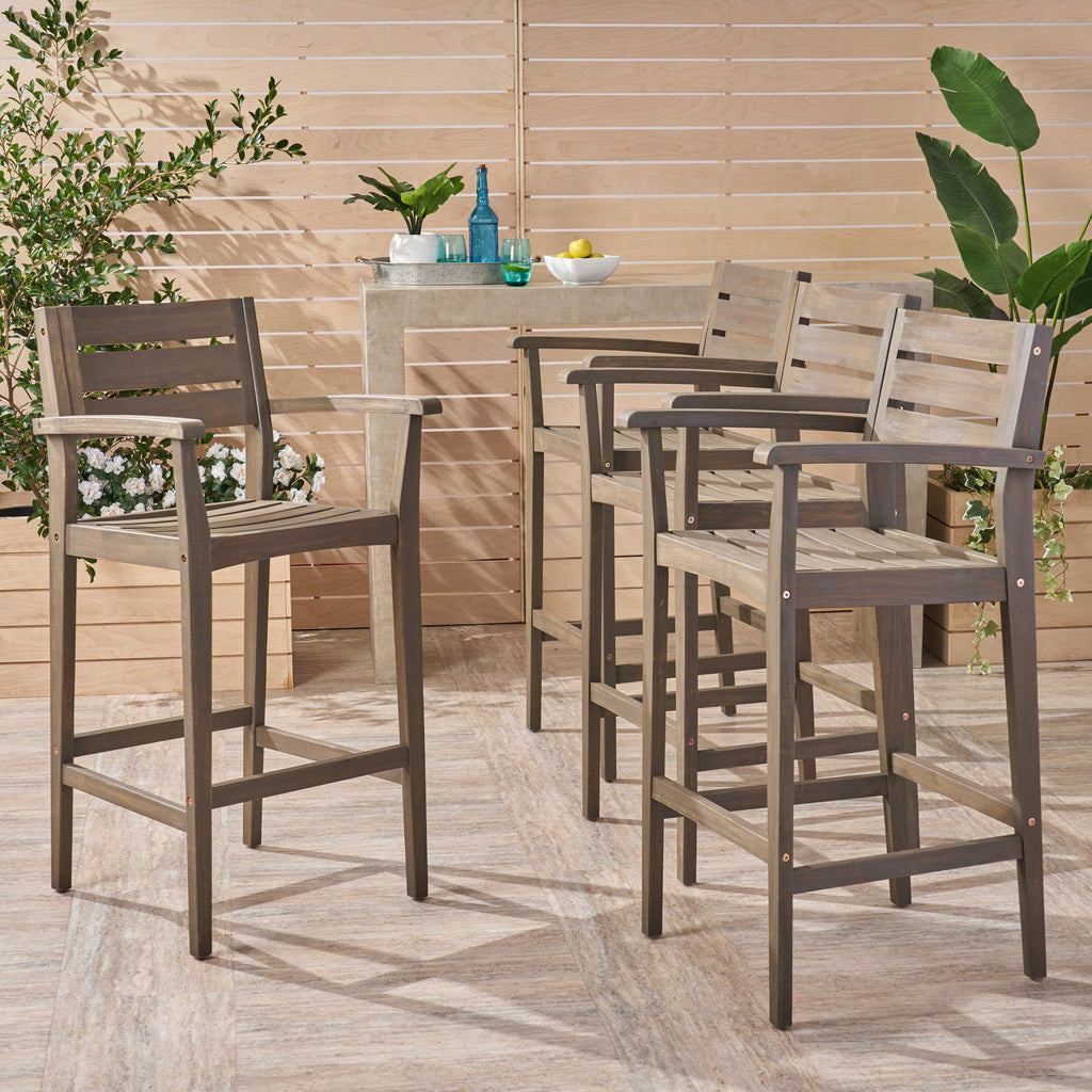 Fabulous Blair 30 Inch Outdoor Bar Stools Set Of 4 Gmtry Best Dining Table And Chair Ideas Images Gmtryco