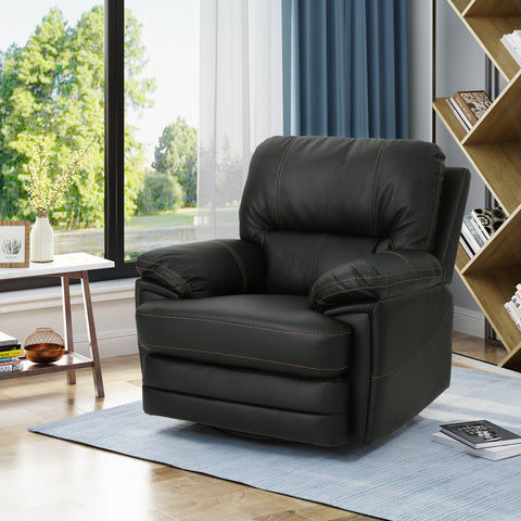 Laurent Bubba Leather Swivel Power Recliner