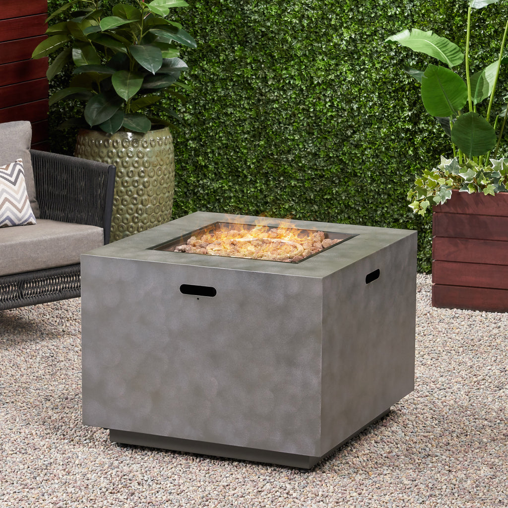 Jasmine Outdoor 33-Inch Square Fire Pit