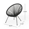 Major Outdoor Hammock Weave Chair with Steel Frame (Set of 2)