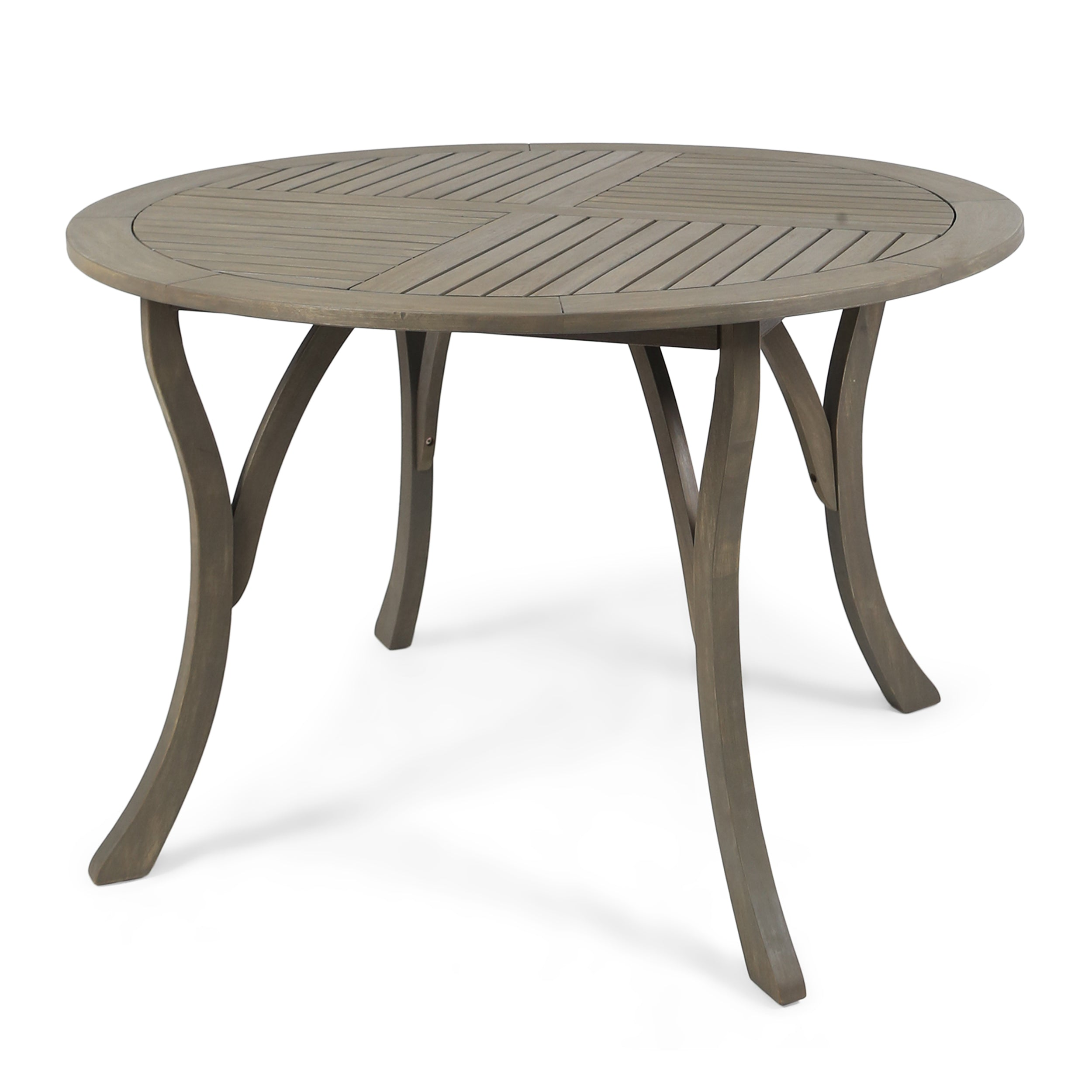 Adn Outdoor 47 inch Round Acacia Wood Dining Table Teak