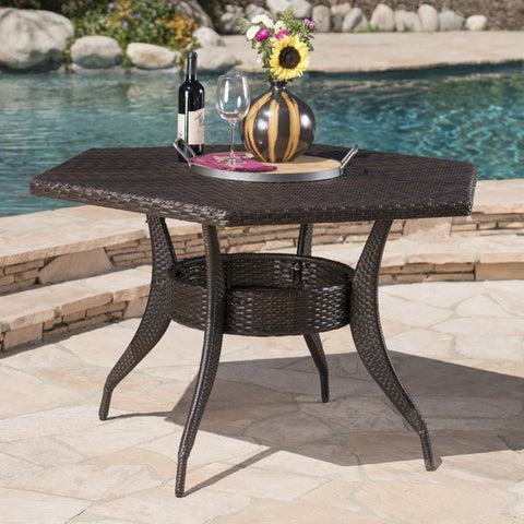Daisy Outdoor 53 Inch Wicker Hexagon Dining Table