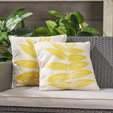 Abby Outdoor 18-inch Water Resistant Square Pillows