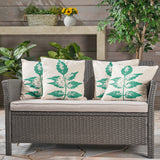 Irene Outdoor 18-inch Water Resistant Square Pillows (Set of 2)