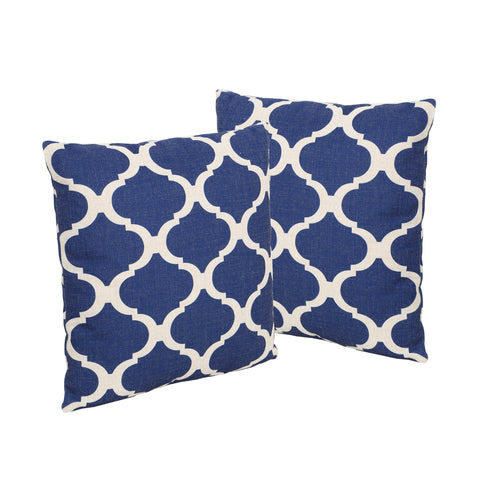 "Amelia Outdoor 18"" Water Resistant Square Pillows"