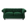 Kyle Traditional Chesterfield Velvet Loveseat Sofa
