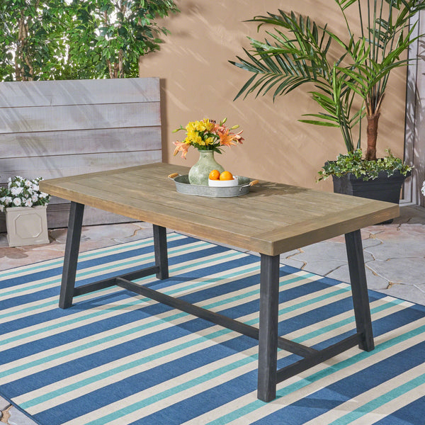 Toby Outdoor Acacia Wood Dining Table