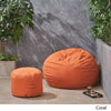 Cavalia Bay Outdoor Water Resistant 4.5 Bean Bag and 2 Ottoman Pouf Set