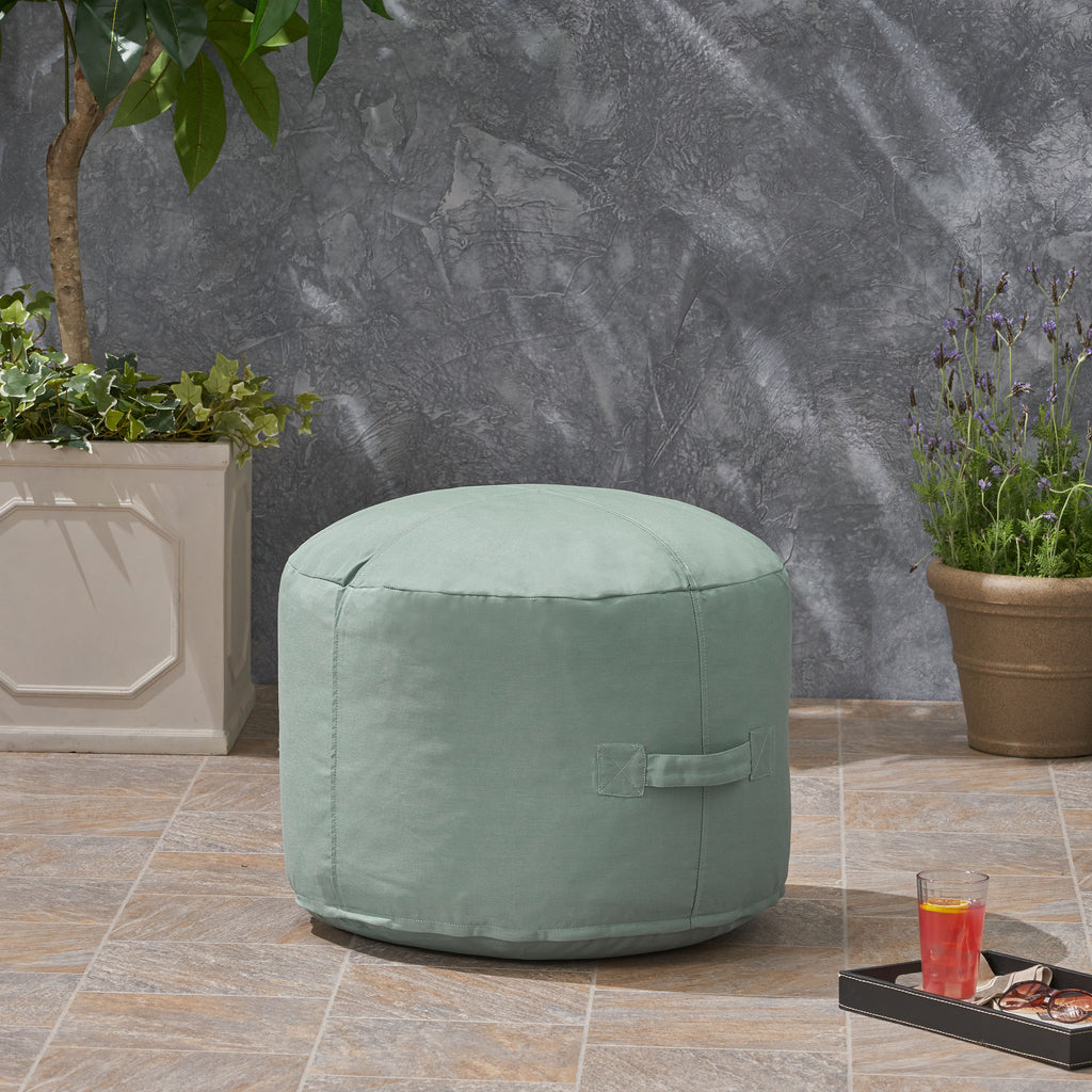Pleasing Riley Cay Outdoor Water Resistant 2 Ottoman Pouf Ncnpc Chair Design For Home Ncnpcorg