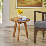 Candance Outdoor Side Table, Farmhouse-Style