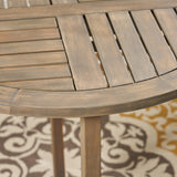 Cathy Outdoor 2-Seater Acacia Wood Bistro Set