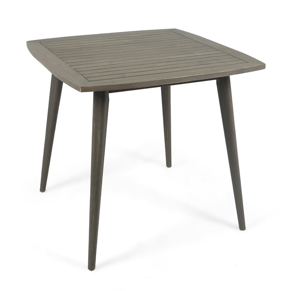 Caleb Indoor Square Acacia Wood Dining Table