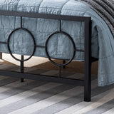 Doris Queen-Size Geometric Platform Bed Frame, Iron, Modern,  Low-Profile