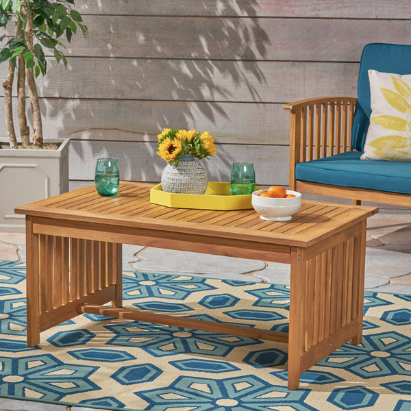 Grace Outdoor Acacia Wood Coffee Table