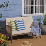 Grace Outdoor Acacia Wood Loveseat