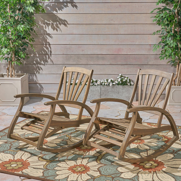 Lee Patio Reclining Rocker Chair (Set of 2)