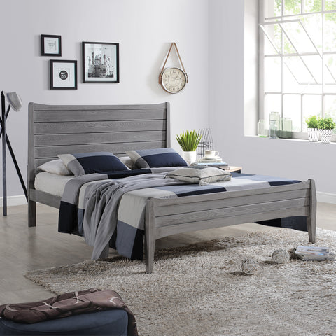 Agatha Rustic Wooden Queen Platform Bed