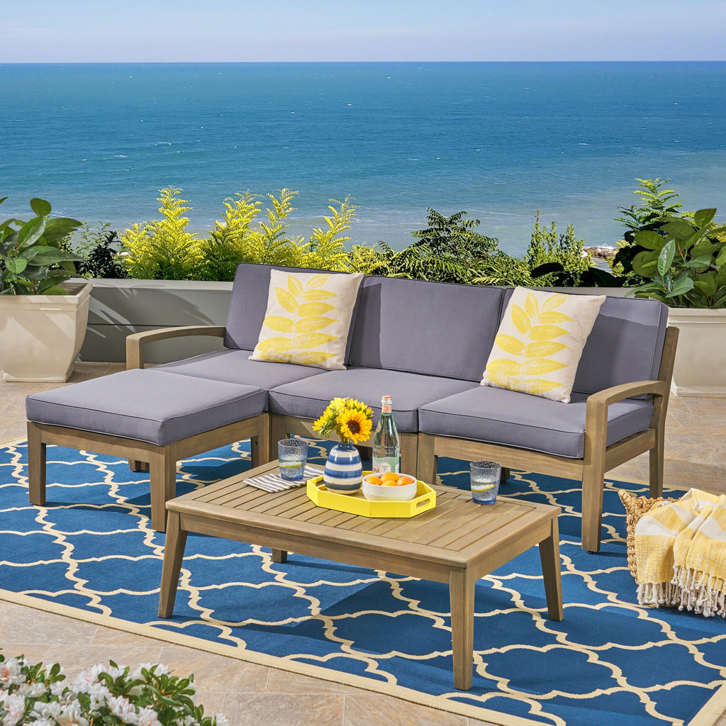 Grenada 5pcs Outdoor Sectional Sofa Set – GDF Studio
