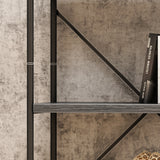 Alma Industrial 5 Shelf Firwood Bookcase