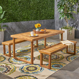 Vickers Outdoor Acacia Wood Picnic Set